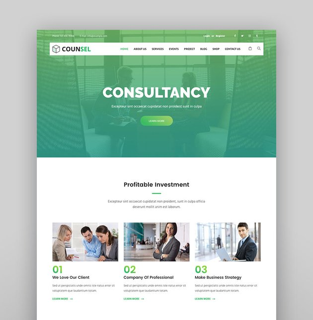 Counsell - Consultancy WordPress Theme
