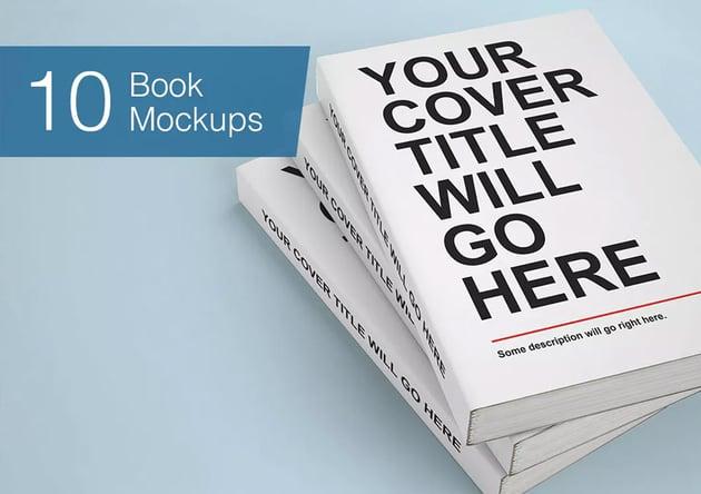 Book Mock-ups - 10 Poses