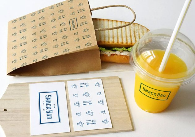 Sandwich cafe Mockup
