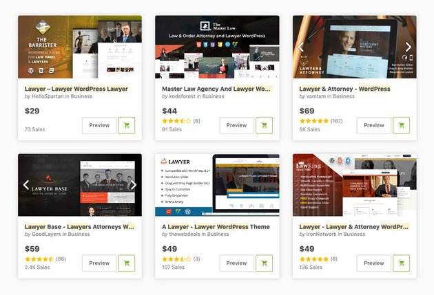 Lawyer themes on ThemeForest