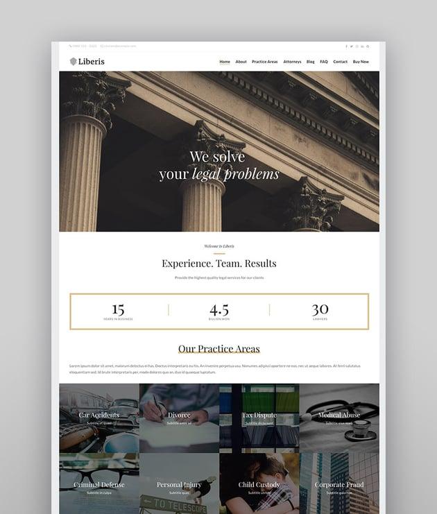Liberis - Attorney Lawyer WordPress Theme