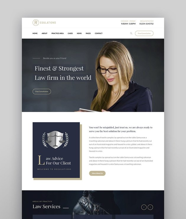 Regulations  Lawyers Attorneys and Law Firm WordPress Theme