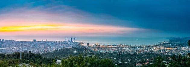 Batumi Adjara Georgia Panorama Aerial View Of Urban Cityscap