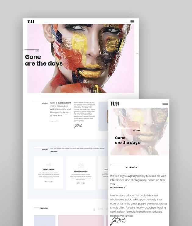 Adios Portfolio WordPress Responsive Theme