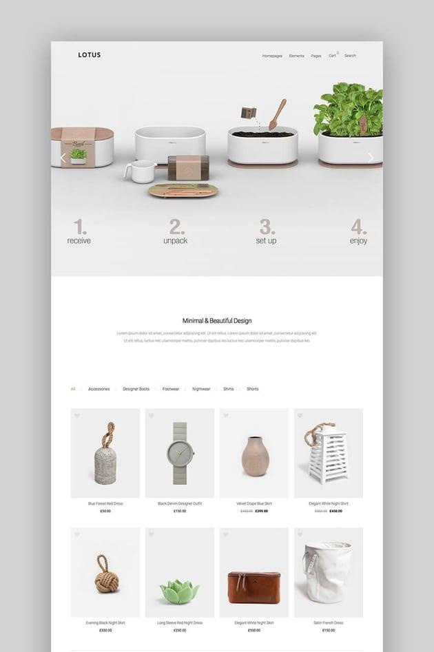 Lotus minimal eCommerce theme