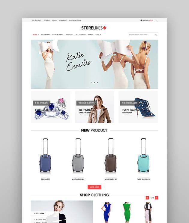 Storelikes - Fashion RTL Responsive WooCommerce Theme