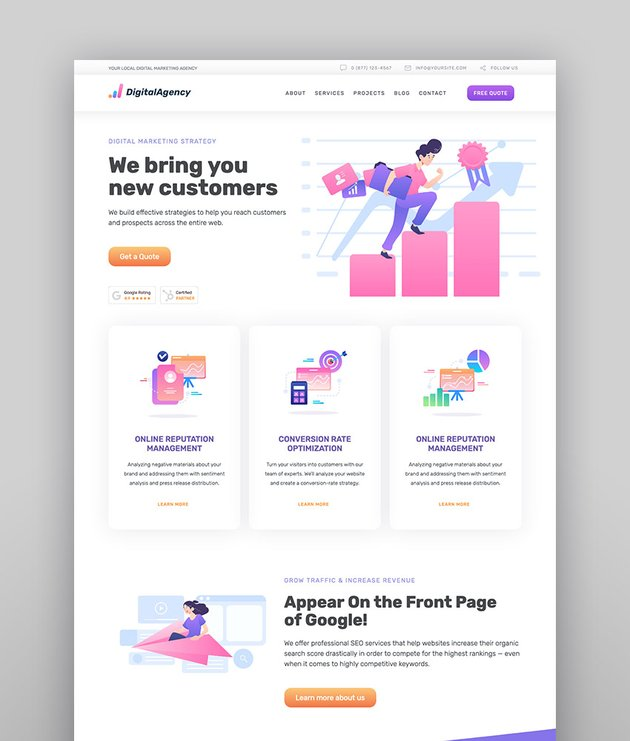 SEOWP  SEO  Digital Agency WordPress Theme