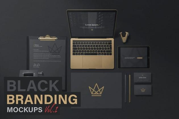 Black Branding Mockups Vol.1