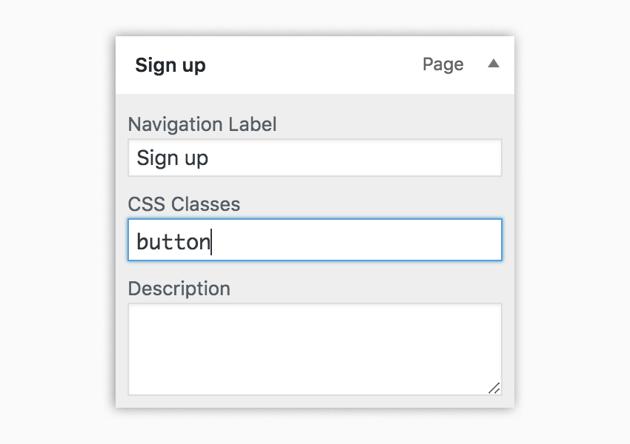 Adding button class for menu item