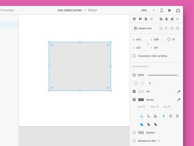borders in Adobe XD