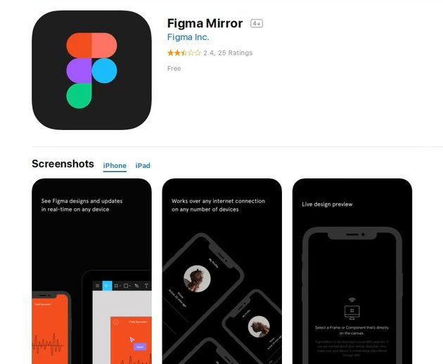 Test on Mobile With Figmas Mirror App