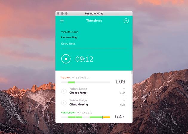 Desktop widget