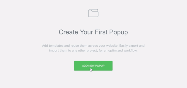 create first popup