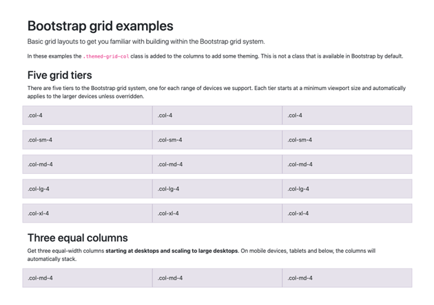 bootstrap grid