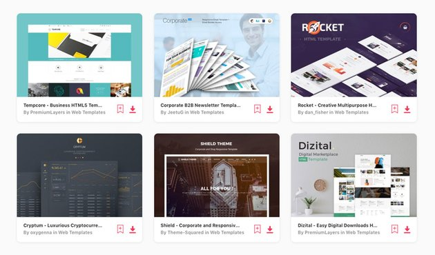 web templates with infographics on Envato Elements