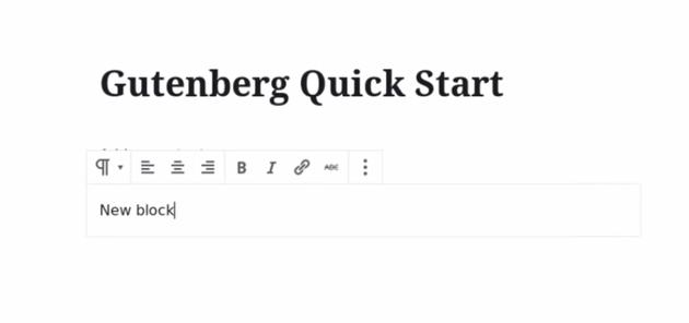 new gutenberg block