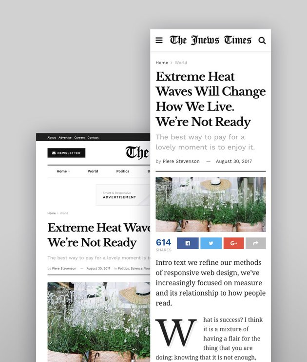 JNews does responsive typography well