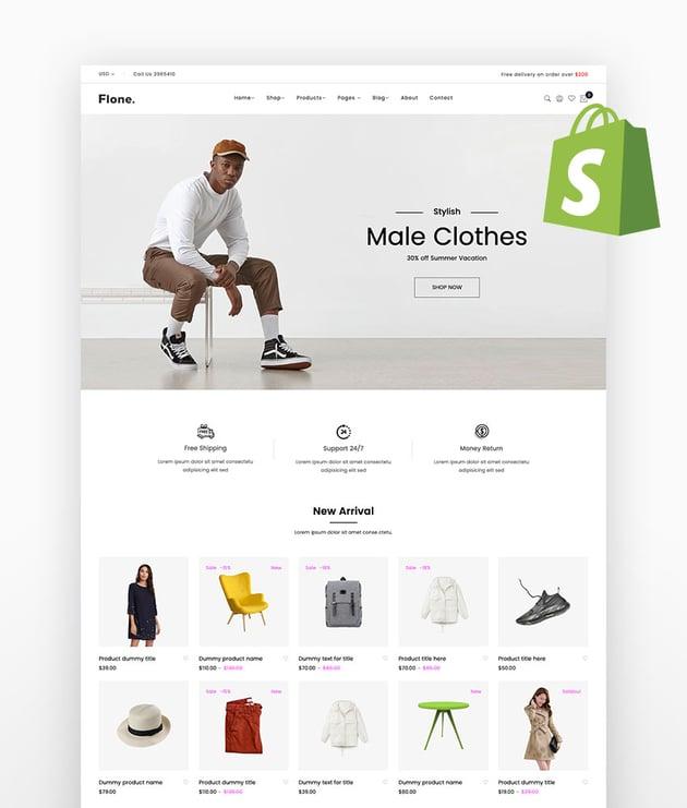 Flone - Minimalist eCommerce Shopify Theme