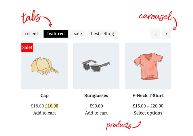 tabbed product archive in woocommerce