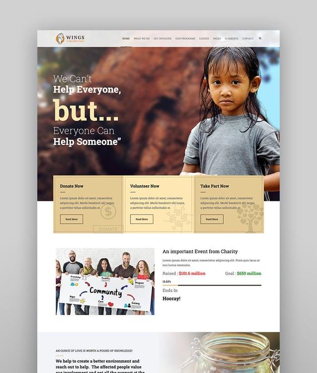 Wings Charity WordPress
