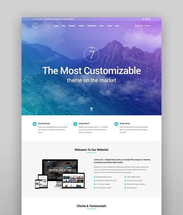 The7 Multi-Purpose Website Building Toolkit for WordPress
