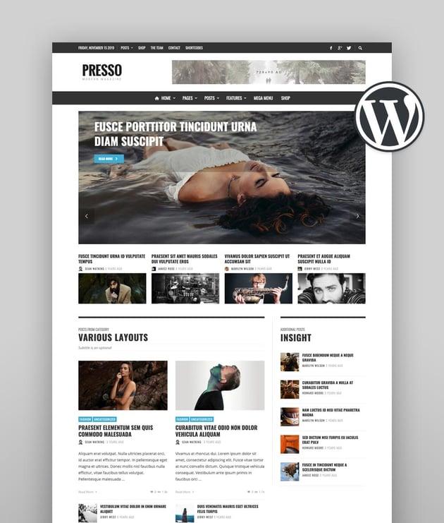 PRESSO - Modern Magazine  Newspaper  Viral Theme translation