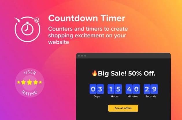 WordPress Countdown Timer Plugin on Envato Elements