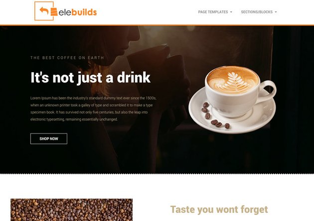 Free Coffee Shop Homepage Template