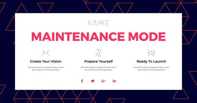 Maintenance Mode 3
