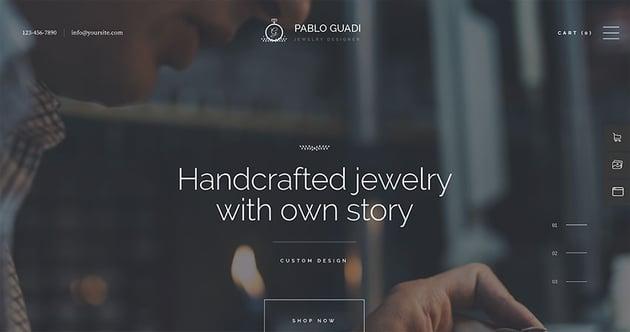 Pablo Guadi - Precious Stones Designer  Handcrafted Jewelry Online Shop Wordpress Theme