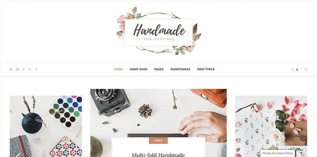 Handmade Shop - Handicraft Blog  Creative Store WordPress Theme