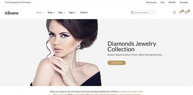Corano Theme WooCommerce Jewelry Theme