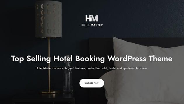 Hotel Master Online Booking Theme WordPress