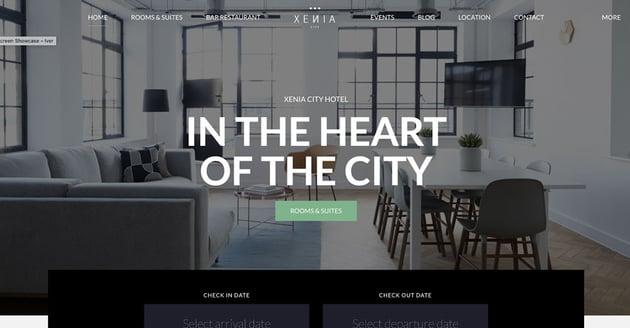 Hotel XENIA - Resort Hotel Booking Hotel WordPress Theme