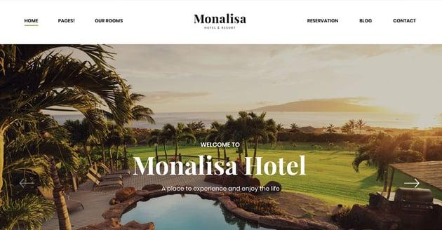 Monalisa  Room Rent WordPress Theme