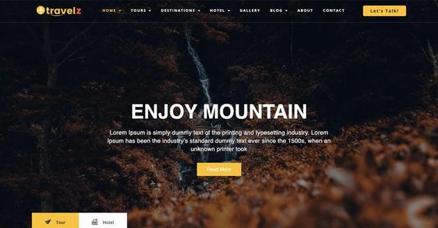 Travelz - WordPress Theme for Tour Agency