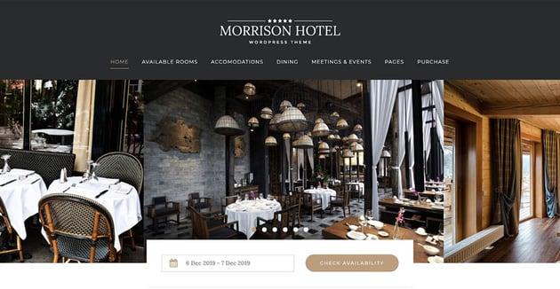 Morrison Hotel - WordPress Booking Theme