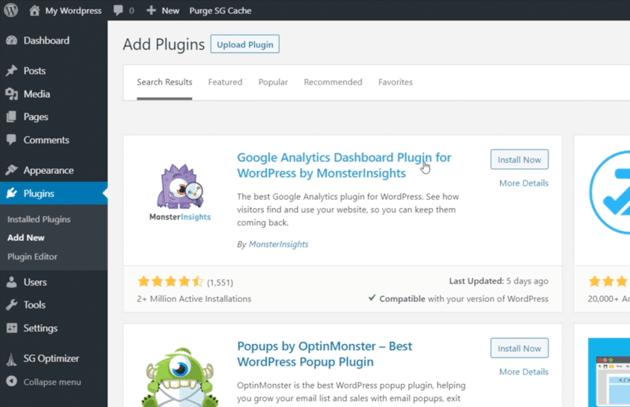 Use the MonsterInsights WordPress Plugin