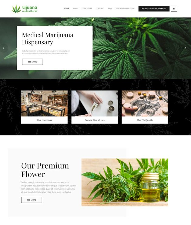 Tijuana - Marijuana Dispensary  Medical WordPress Theme