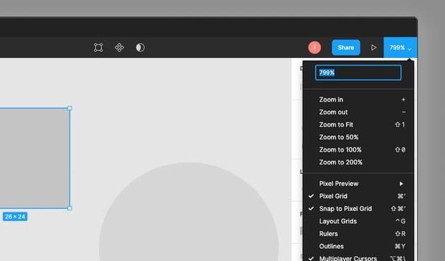 Figma zoom settings