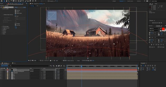 How to Animate a Landscape Painting in Adobe After Effects