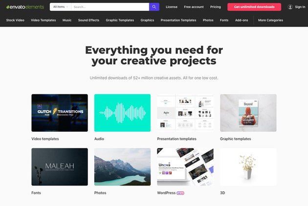 creative projects on envato elements