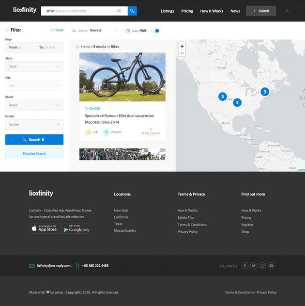 lisfinity demo page