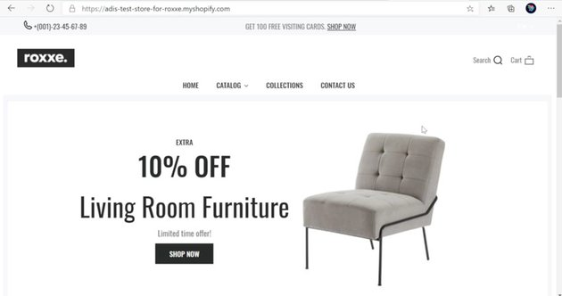 Shopify furniture store