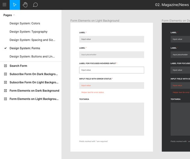 forms in figma design system