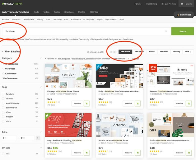 Furniture WooCommerce themes on ThemeForest
