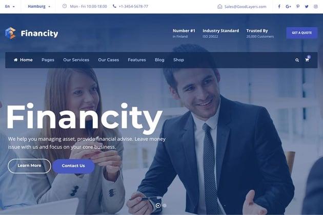 Financity - Business / Financial / Finance WordPress