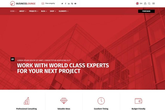Business Lounge   Multi-Purpose Consulting & Finance Theme
