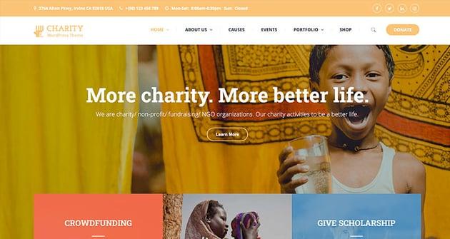 Charitix | Nonprofit Charity WordPress Theme
