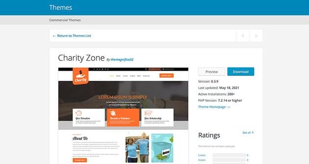 Charity Zone (Free WordPress Theme)